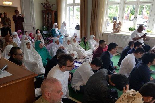 WNI di Swedia sholat Ied bersama rayakan Idul Fitri