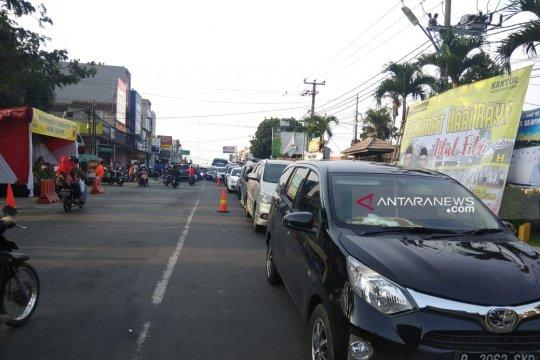 Volume kendaraan yang masuk jalur mudik Sukabumi arah Bogor berkurang