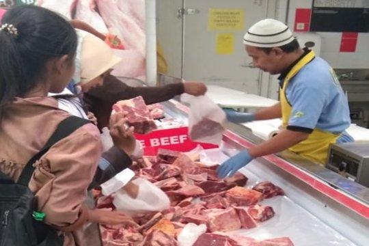 Warga Bandarlampung minati daging beku impor