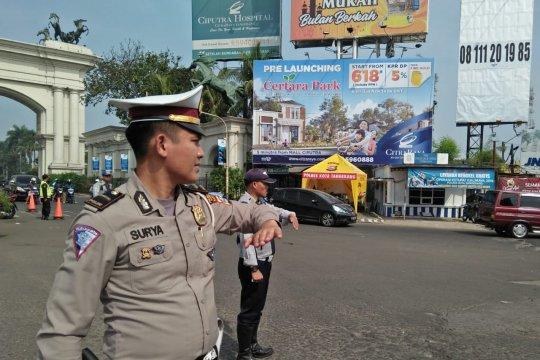 Pemudik motor melintas Tangerang H-1 mayoritas jarak dekat
