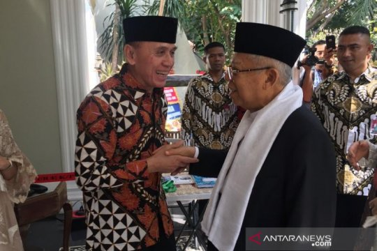 "Usai temui Jokowi, Ma'ruf Amin gelar ""open house"""