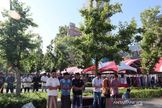 Sholat Idul Fitri di Stasiun Taipei diikuti 50.000 WNI