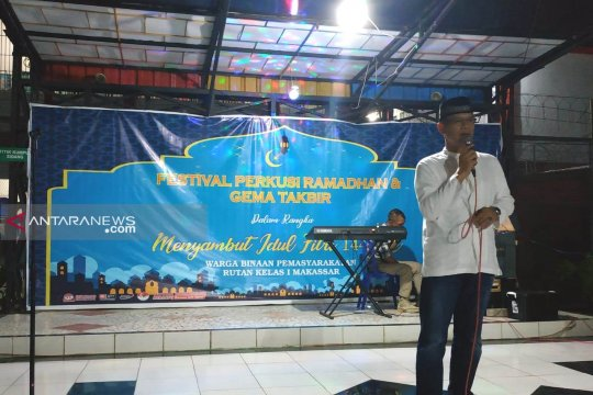 Malam takbiran Rutan Makassar gelar festival perkusi
