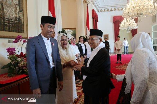 KH Ma'ruf Amin silaturahmi ke Presiden Joko Widodo