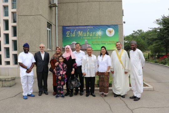 Dubes RI perkenalkan tradisi mudik kepada tamu Idul Fitri di Pyongyang