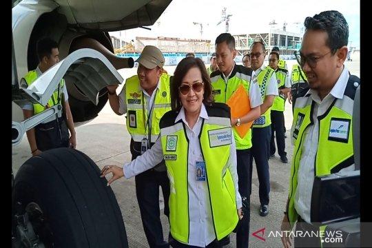 Dirjen Hubud pimpin ramp check pesawat di Syamsudin Noor