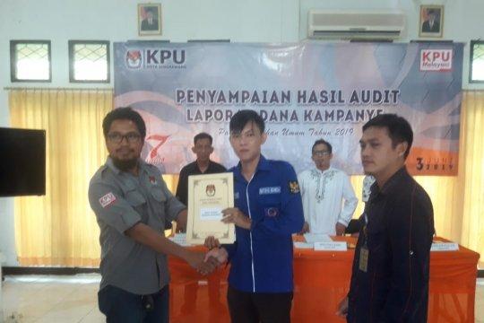 KPU Singkawang serahkan hasil audit dana kampanye