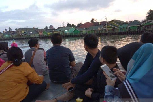 Libur Lebaran wisata susur sungai ramai pengunjung