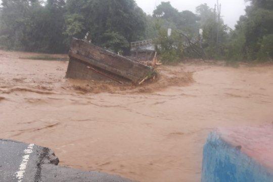 BPJN XIV pasang jembatan darurat di Sungai Dampala
