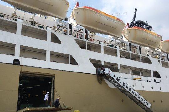 Puncak arus balik, 5 kapal mudik gratis sandar di Tanjung Priok