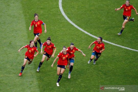 Dua gol Jennifer Hermoso bantu Spanyol tekuk Afrika Selatan 3-1