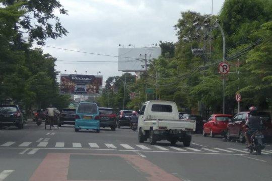 Aktivitas lalulintas di Makassar masih lengang pascalebaran