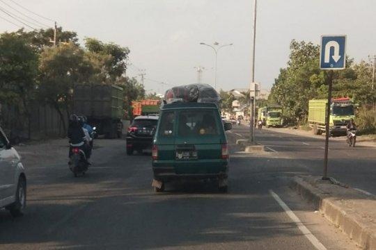 Arus balik pemudik masih berlangsung di Jalinsum Lampung