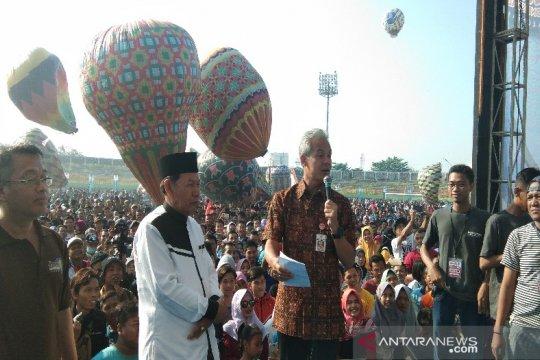 Gubernur Jawa Tengah tak akan berkompromi soal pelepasan balon liar