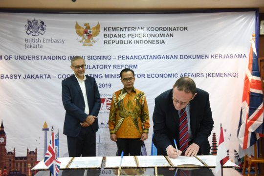 Indonesia-Inggris perkuat reformasi regulasi jaga momentum pertumbuhan