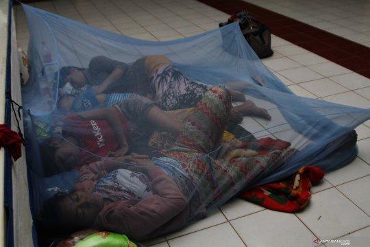 5.888 jiwa warga Konawe Utara masih bertahan di tempat pengungsian