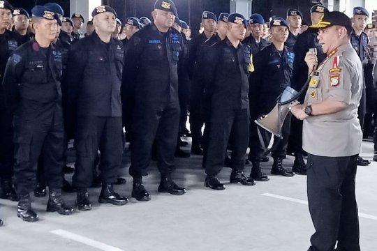 Kapolda Kepri semangati personelnya yang BKO pengamanan KPU