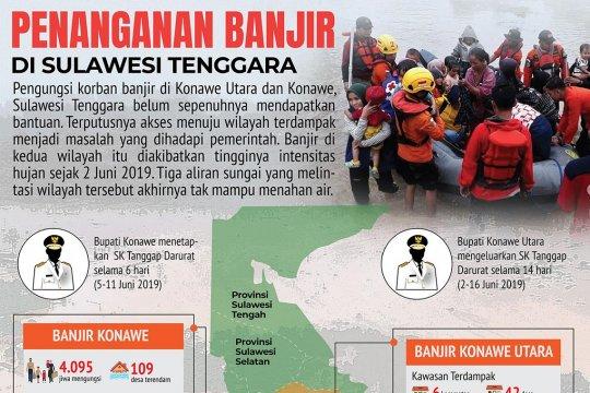 Penanganan banjir di Sulawesi Tenggara