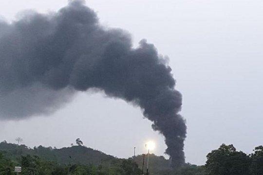 Kawasan penambangan minyak ilegal di Batanghari kembali terbakar