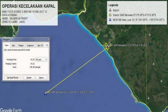 Tim SAR gabungan cari ABK KM Intan Laut 12 yang jatuh di laut Arafuru