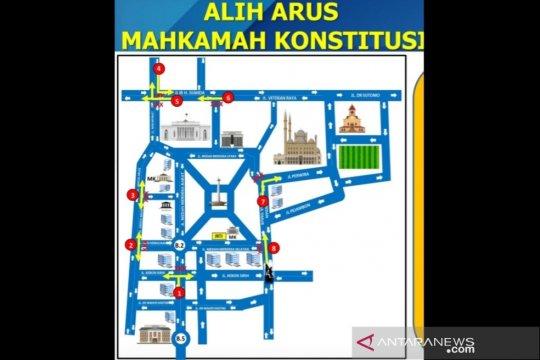 Polisi rekayasa ruas jalan sekitar MK saat sidang PHPU