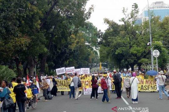 Aksi demo kawal sengketa pilpres di MK tak dukung paslon mana pun