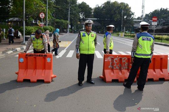Ada sidang sengketa pilpres di MK, Jalan Medan Merdeka Barat ditutup