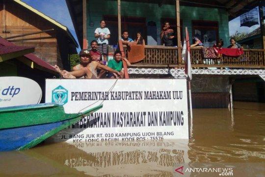 Banjir di Mahakam Ulu, tinggi air rata-rata 60 cm