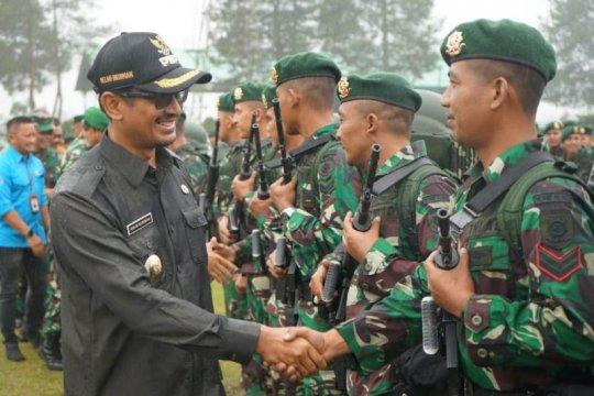 450 prajurit TNI dari Garut berangkat ke perbatasan Indonesia-Malaysia