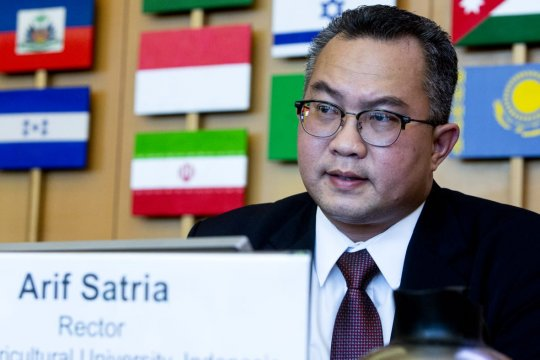 Rektor IPB sampaikan empat strategi pertanian digital di FAO