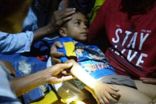 Ada di tengah sawah, bocah hilang di Nagan Raya ditemukan