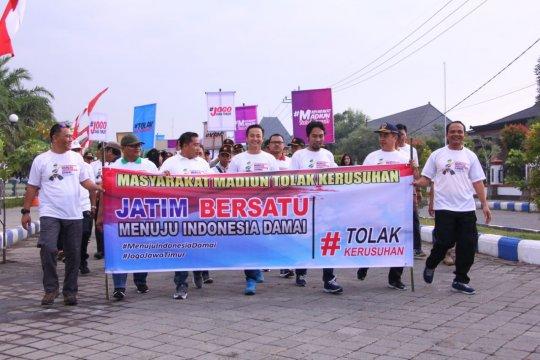 Forkopimda Kabupaten Madiun ajak masyarakat tolak kericuhan