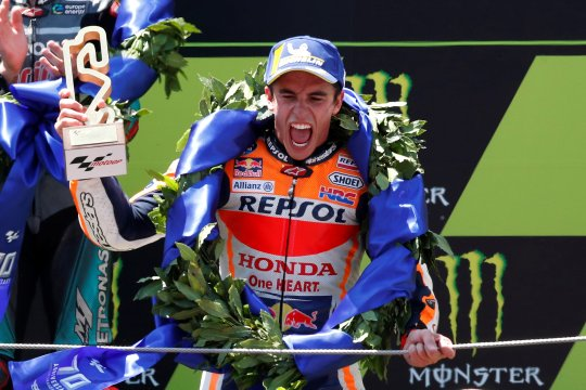 Hasil GP Catalunya, Marquez juara kala rival bertumbangan