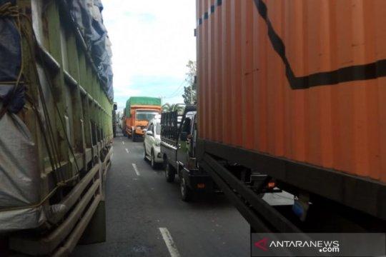 Arus lalu lintas Mesuji Lampung - Sumsel lumpuh akibat jembatan ambles