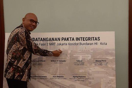 Pembangunan fase 2 MRT Jakarta sepenuhnya di bawah tanah