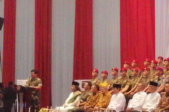 Try Sutrisno dan Ryamizard hadiri halal bihalal yang digelar TNI