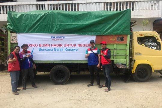 Bantuan bumn untuk korban banjir Konawe capai Rp1,25 miliar