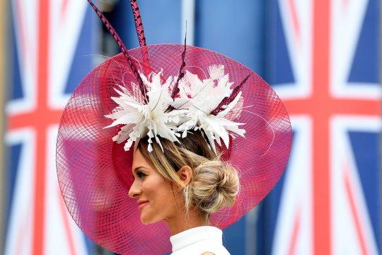 Kemeriahan acara Ladies Day di arena balapan kuda Royal Ascot, Inggris