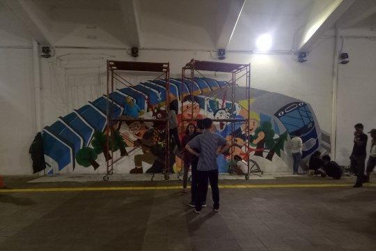 Pengecatan mural di terowongan Jalan Kendal, disambut positif