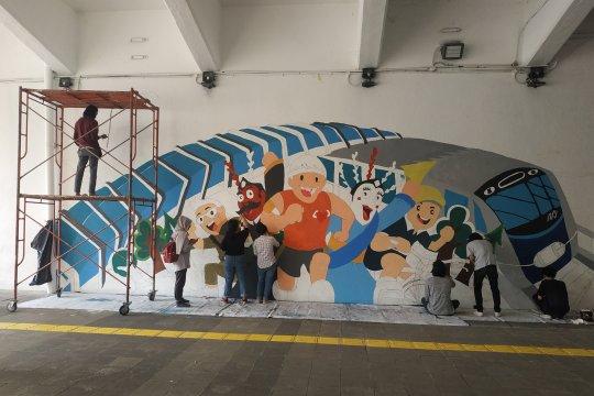 Terowongan Jalan Kendal dimural untuk sambut HUT DKI Jakarta
