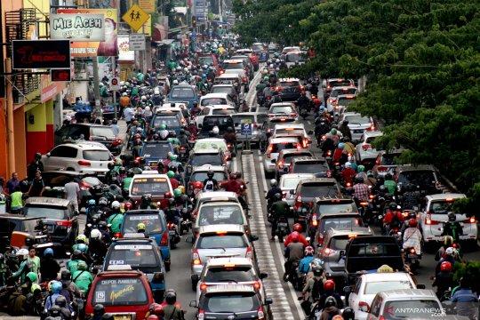 Kemacetan parah di jalan Margonda Depok