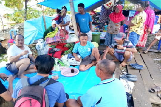 921 warga Konawe Utara masih berada di tempat pengungsian