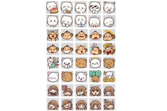 Line kolaborasi dengan seniman lokal buat 40 emoji gratis