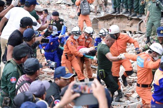 Kamboja dakwa warga China terkait bangunan ambruk