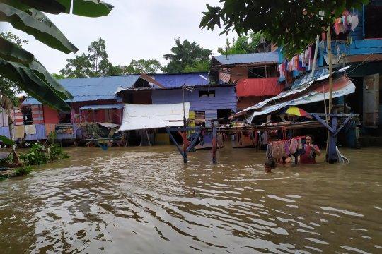 Sejumlah rumah di Kota Medan terendam banjir