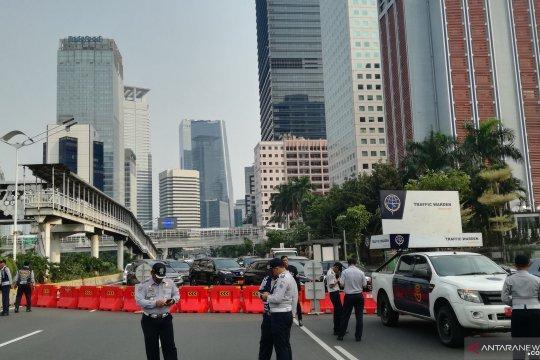 Jelang Malam Puncak HUT Jakarta, akses menuju Bundaran HI ditutup