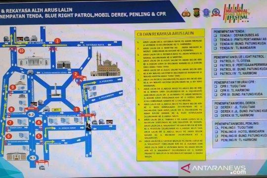 Polisi siapkan rekayasa jalur saat Festival Damai Milenial di Monas