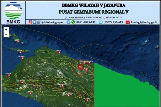 Gempa 4,8 SR guncang Kabupaten Jayapura