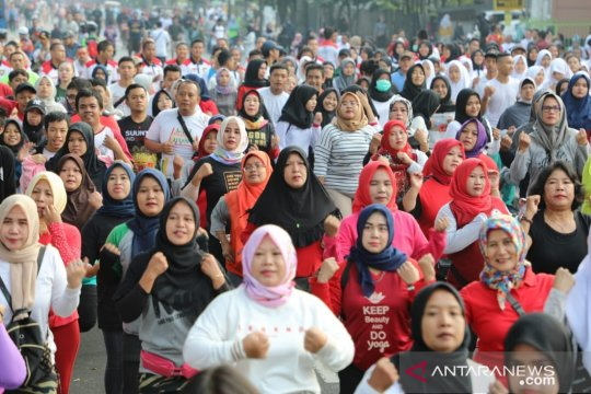 Jelang putusan MK, ribuan warga Bogor deklarasi tolak kerusuhan