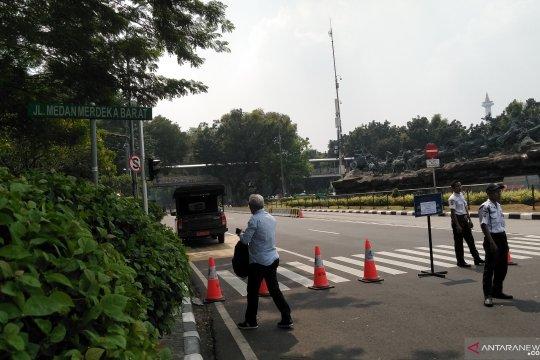 Rapat hakim MK, ruas jalan Medan Merdeka Barat tutup